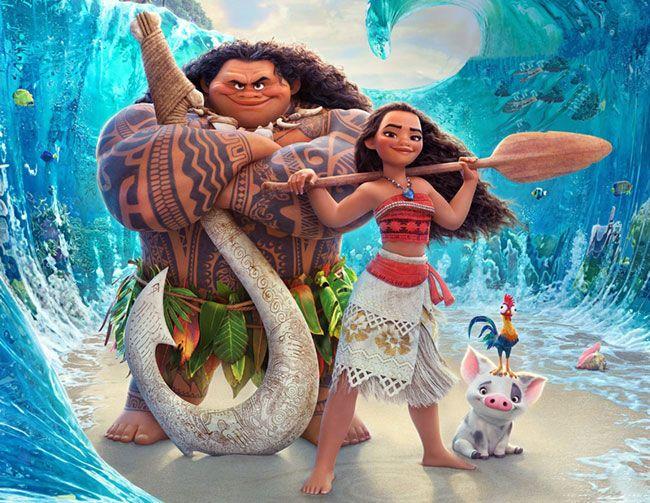 Maui gây ấn tượng với khán giả mạnh hơn công chúa Moana