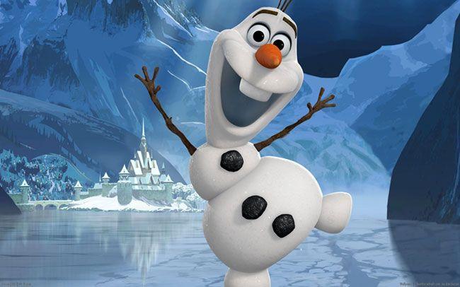 Olaf luôn vui vẻ và hài hước