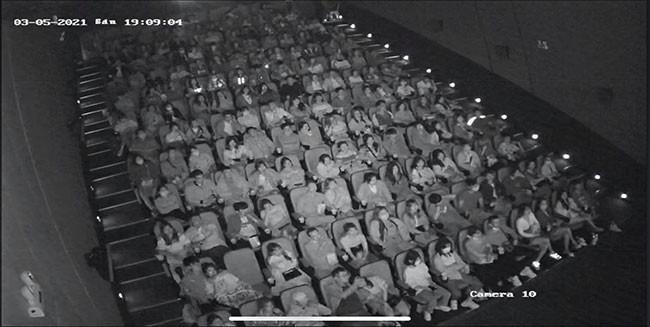 Phòng chiếu tại rạp Touch Cinema không còn một chỗ trống