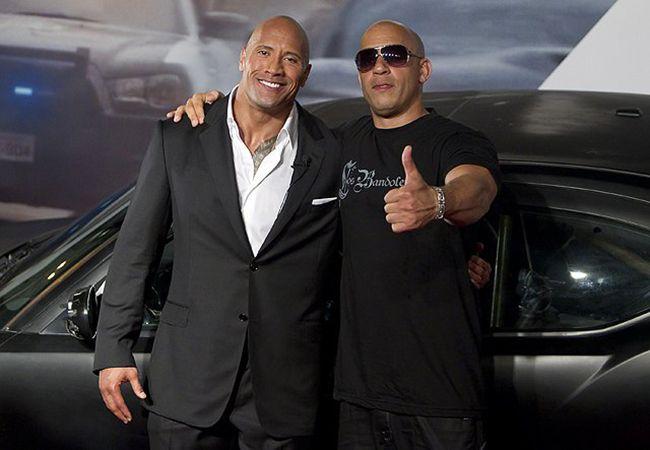 Vin Diesel và The Rock cũng đã từng có mâu thuẫn