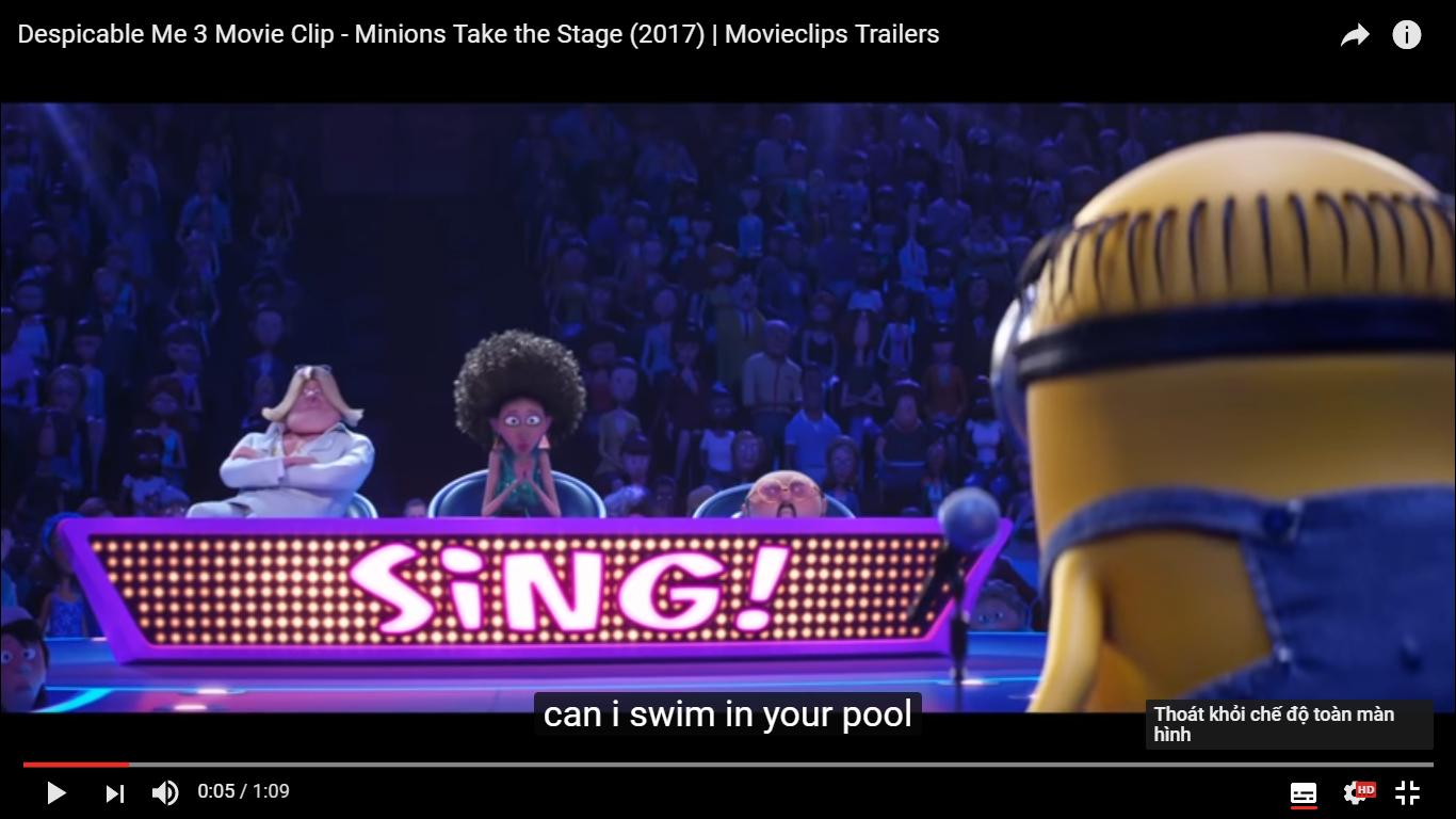 Lũ Minions tham gia cuộc thi tìm kiếm tài năng âm nhạc - Sing