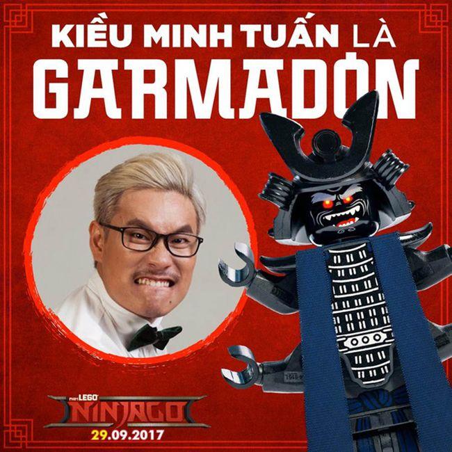 Kiều Minh Tuấn chịu trách nhiệm lồng tiếng cho Garmadon