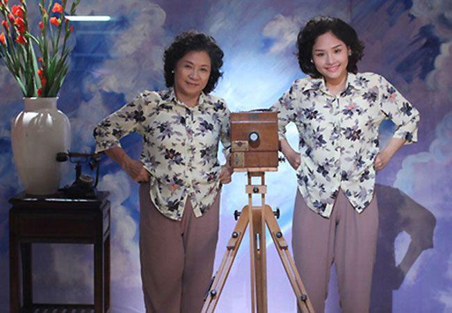 Tạo hình của Miu Lê trong tác phẩm Em là bà nội của anh