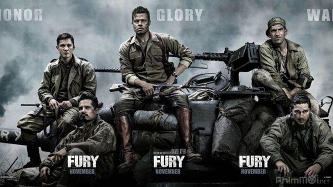 Tác phẩm Fury của Brad Pitt nhận được đánh giá cao từ giới chuyên môn và người hâm mộ