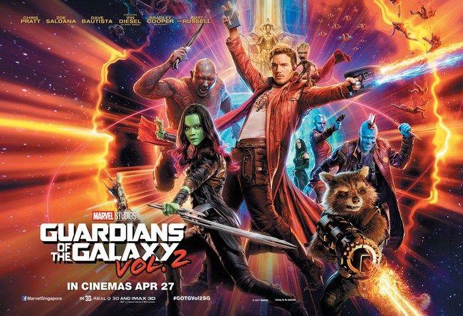 Vị trí đầu tiên của Top 10 là Guardians of the Galaxy vol.2