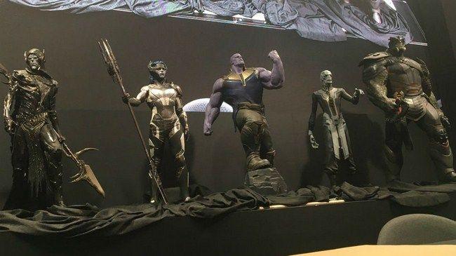 Tạo hinh của Thanos và tay chân của hắn - nhóm Black Order được tiết lộ