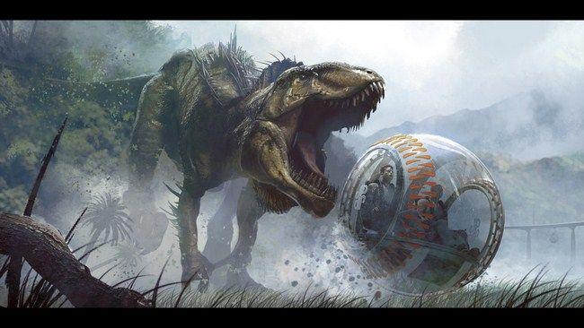 Một cảnh trong Jurassic World năm 2015