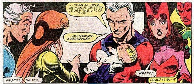 Trong truyện tranh Vision và Scarlet Witch đã kết hôn và có con với nhau
