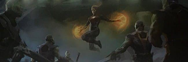 Một cảnh chiến đấu giữa Captain Marvel và các Skrull