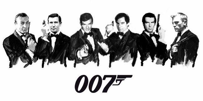 James Bond đã xuất hiện trong 24 bộ phim và trải qua 6 đời diễn viên
