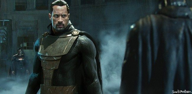 Tạo hình fan-made của Black Adam -Dwayne Johnson
