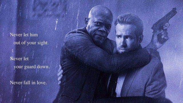 Poster của Hitman's Bodyguard nhại lại tấm poster của bộ phim kinh điển Bodyguard