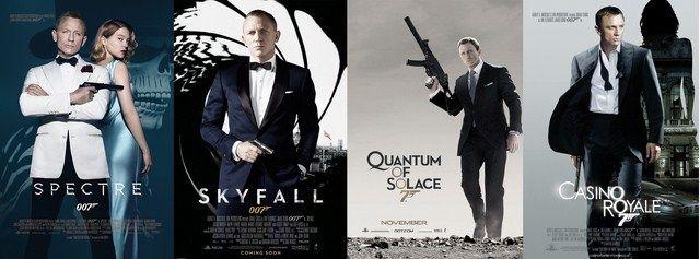 Daniel Craig đã thủ vai James Bond trong 4 bộ phim