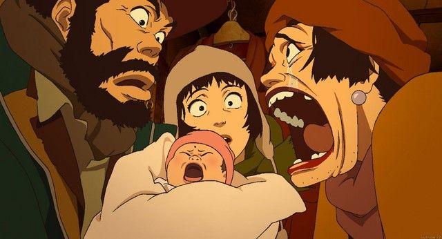 Tokyo Godfathers là bộ phim không thể bỏ qua trong mùa giáng sinh