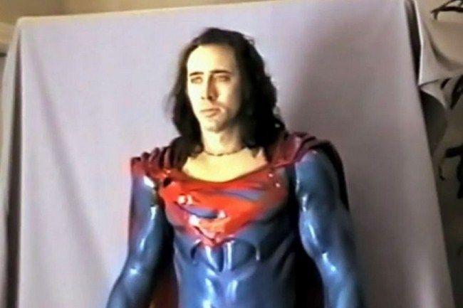 Nicolas Cage còn từng thử trang phục của Superman