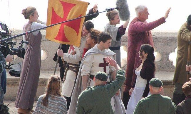 Hình ảnh trên phim trường Robin Hood 2018