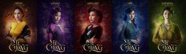 Poster mới của 5 nhân vật nữ chính