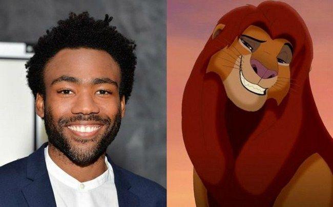 Donald Glover sẽ đảm nhận vai trò lồng tiếng cho nhân vật Simba