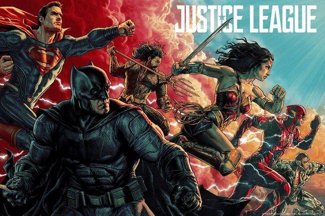 Doanh thu ngày thứ 3 vừa qua của Justice League đạt mức 10 triệu USD