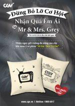 Đừng Bỏ Lỡ Cơ Hội Nhận Quà Êm Ái Từ Mr & Mrs. Grey tại CGV