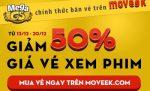 Mừng MegaGS lên sóng Moveek - Giảm 50% giá vé